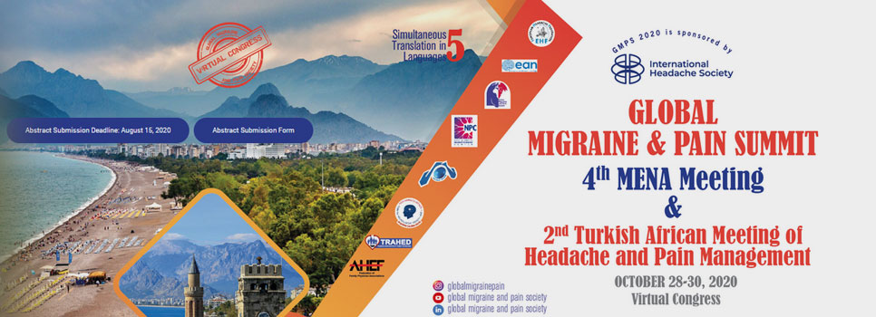 GLOBAL MIGRANE & PAIN SUMMIT - October 28-30, 2020